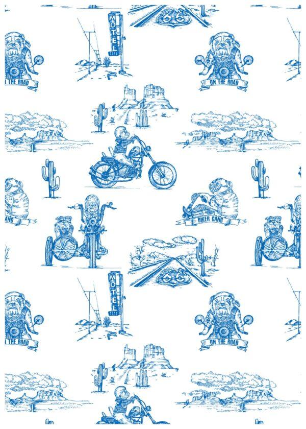 Body manches longues blue biker CHANGE MA COUCHE