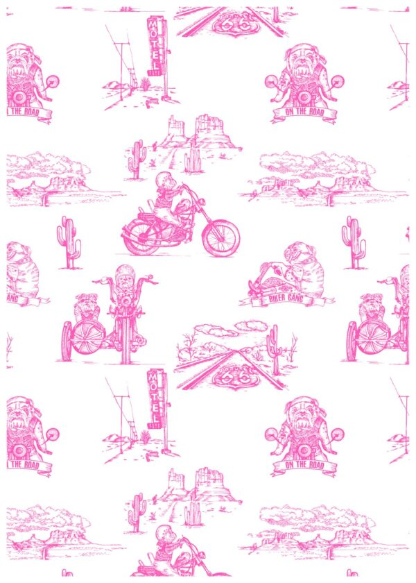 Body manches longues Pink biker CHANGE MA COUCHE