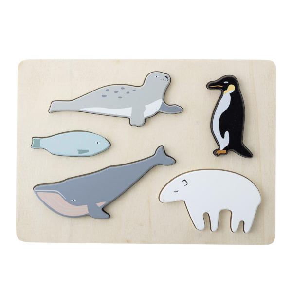 Premier puzzle en bois animaux marins