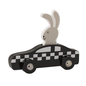 un taxi et son chauffeur le lapin