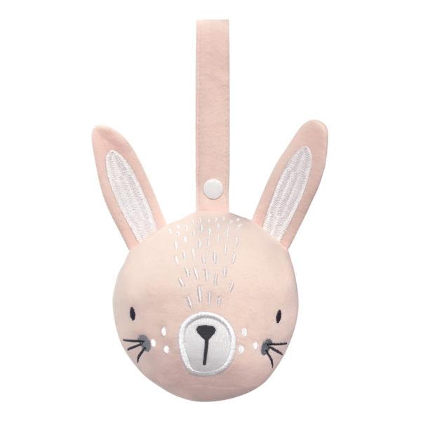 jouet d'éveil à suspendre lapin rose MISTERFLY