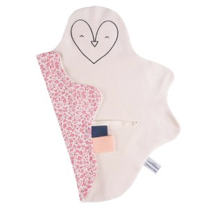 Grand doudou Pingouin Rose JUSTE INSEPARABLES